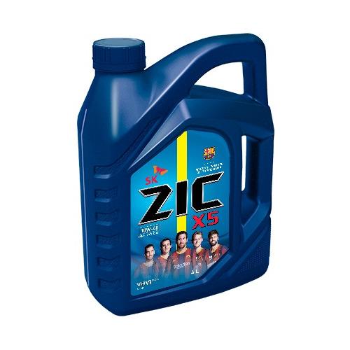 Моторное масло ZIC X5 10W-40 4л. полусинтетическое [162622]