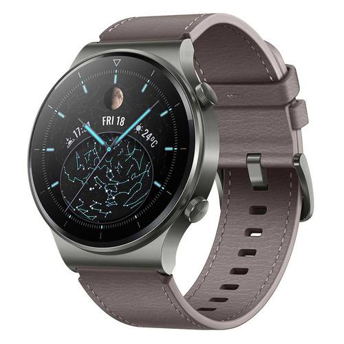 Смарт-часы Huawei Watch GT 2 Pro Vidar-B19V, 1.39, серый / серый [55026317] смарт часы huawei watch gt 2 pro vidar b19s 1 39 серебристый черный [55025736]
