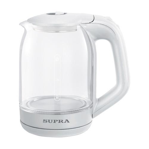 Фото - Чайник электрический SUPRA KES-1893, 1500Вт, белый чайник электрический supra kes 1893 1500вт белый
