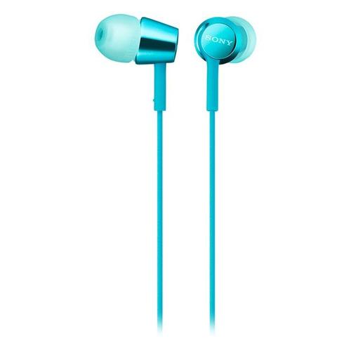 Фото - Гарнитура SONY MDR-EX155AP, 3.5 мм, вкладыши, голубой [mdrex155apli.e] наушники sony mdr ex155ap ligth blue