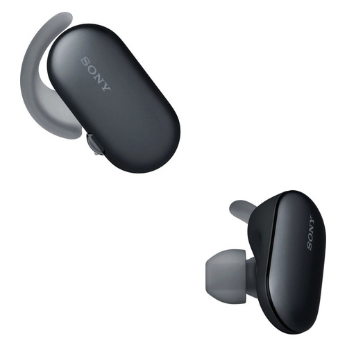 Гарнитура SONY WF-SP900, Bluetooth, вкладыши, черный [wfsp900b.e]