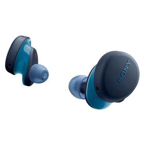 Гарнитура SONY WF-XB700, Bluetooth, вкладыши, синий [wfxb700l.e] беспроводные наушники sony wf xb700 black