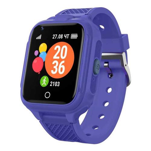 Фото - Смарт-часы GEOZON G-Kids 4G Plus, 44мм, 1.4, синий / синий [g-w14dblu] geozon g kids 4g plus red g w14red