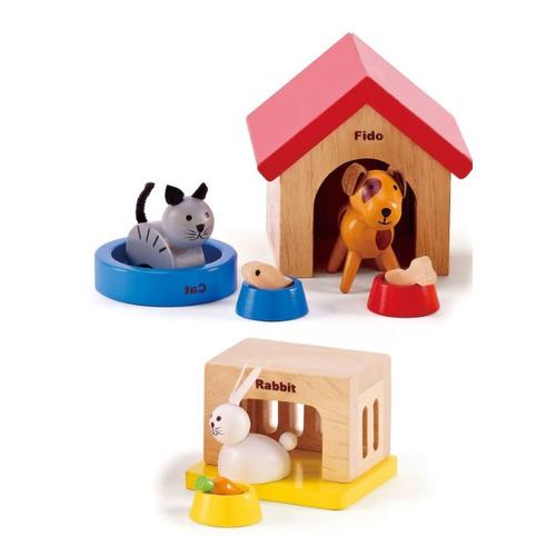 Фото - Игровой набор HAPE Домашние животные [e3455_hp] playmobil игровой набор фермер с домашними животными