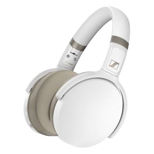 Наушники SENNHEISER HD 450BT, 3.5 мм/Bluetooth/USB Type-C, мониторные, белый [508387]