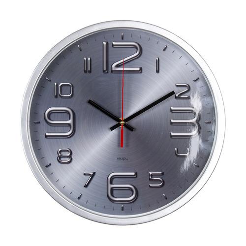 Настенные часы БЮРОКРАТ WALLC-R82P, аналоговые, серебристый