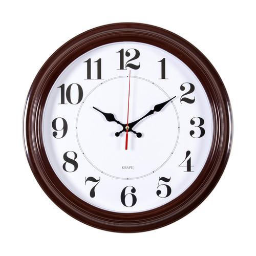 Настенные часы БЮРОКРАТ WALLC-R85P, аналоговые, коричневый