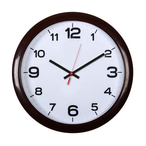 Настенные часы БЮРОКРАТ WALLC-R87P, аналоговые, темно-коричневый
