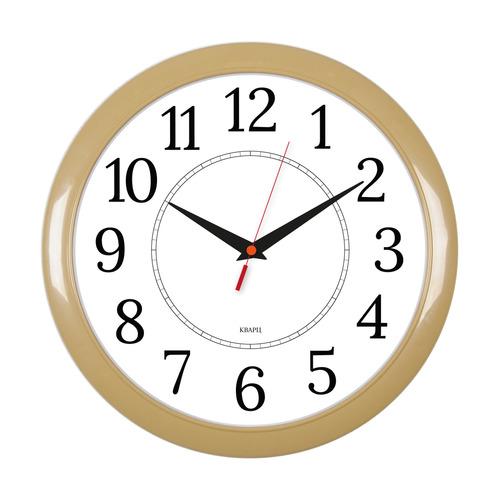 Настенные часы БЮРОКРАТ WALLC-R88P, аналоговые, бежевый