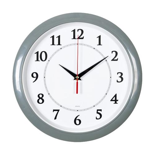 Настенные часы Бюрократ WALLC-R89P, аналоговые, серый