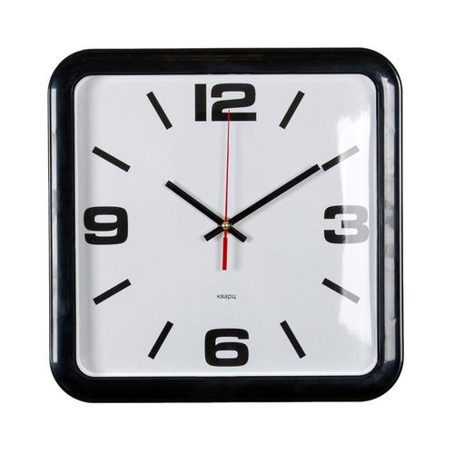 Настенные часы БЮРОКРАТ WALLC-S90P, аналоговые, черный