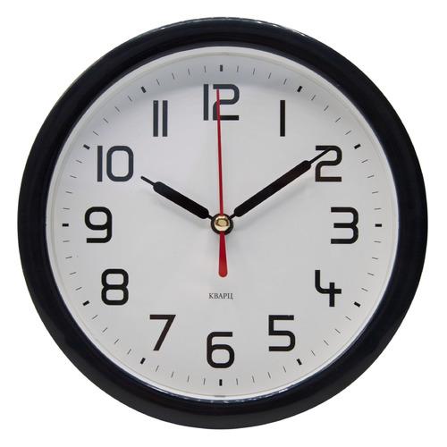 Настенные часы БЮРОКРАТ Alarm-R15P, аналоговые, черный