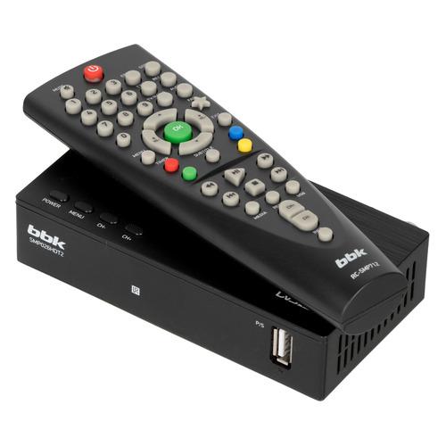 Ресивер DVB-T2 BBK SMP026HDT2, черный