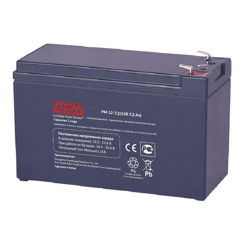 Аккумуляторная батарея для ИБП PowerCom PM-12-7.2 12В, 7.2Ач
