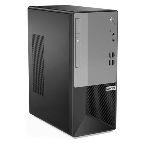 Компьютер LENOVO V50t-13IMB, Intel Pentium G6400, DDR4 4ГБ, 256ГБ(SSD), Intel UHD Graphics 610, DVD-RW, CR, noOS, черный [11hd002lru]