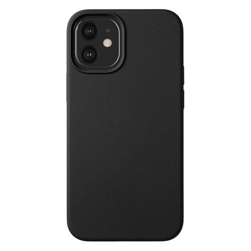 Чехол (клип-кейс) Deppa Liquid Silicone, для Apple iPhone 12 mini, черный [87706] чехол клип кейс deppa liquid silicone для apple iphone 12 mini бургунди [87787]