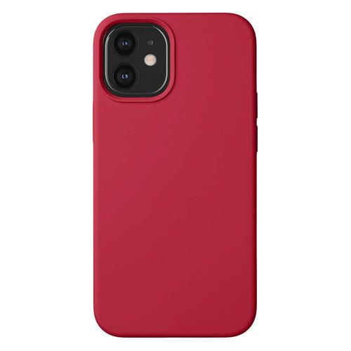 Чехол (клип-кейс) Deppa Liquid Silicone, для Apple iPhone 12 mini, красный [87786] чехол клип кейс deppa liquid silicone для apple iphone 12 mini бургунди [87787]