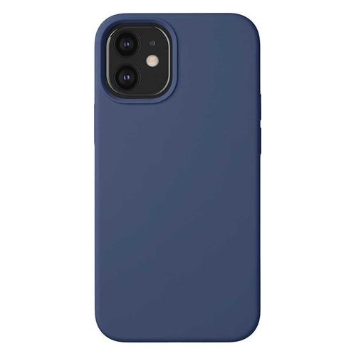 Чехол (клип-кейс) Deppa Liquid Silicone, для Apple iPhone 12 mini, синий [87714] чехол клип кейс deppa liquid silicone для apple iphone 12 mini бургунди [87787]