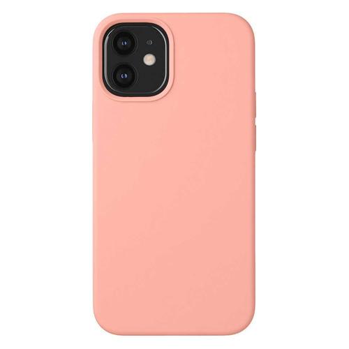 Чехол (клип-кейс) Deppa Liquid Silicone, для Apple iPhone 12 mini, розовый [87710] чехол клип кейс deppa liquid silicone для apple iphone 12 mini бургунди [87787]