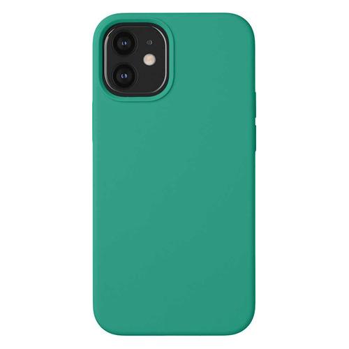 Чехол (клип-кейс) Deppa Liquid Silicone, для Apple iPhone 12 mini, зеленый [87718] чехол клип кейс deppa liquid silicone для apple iphone 12 mini бургунди [87787]