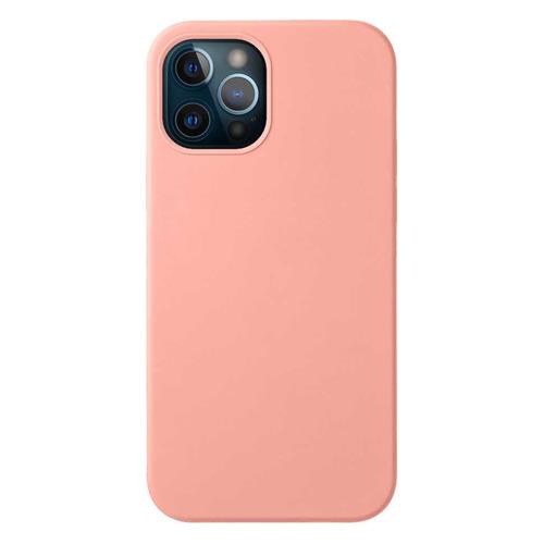 Чехол (клип-кейс) Deppa Liquid Silicone, для Apple iPhone 12/12 Pro, розовый [87712] чехол клип кейс deppa liquid silicone для apple iphone 12 mini бургунди [87787]