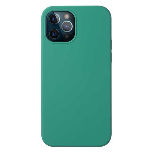 Чехол (клип-кейс) Deppa Liquid Silicone, для Apple iPhone 12/12 Pro, зеленый [87720] чехол клип кейс deppa liquid silicone для apple iphone 12 mini бургунди [87787]