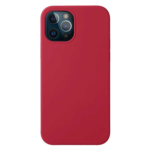 Чехол (клип-кейс) Deppa Liquid Silicone, для Apple iPhone 12/12 Pro, красный [87780] чехол клип кейс deppa liquid silicone для apple iphone 12 mini бургунди [87787]