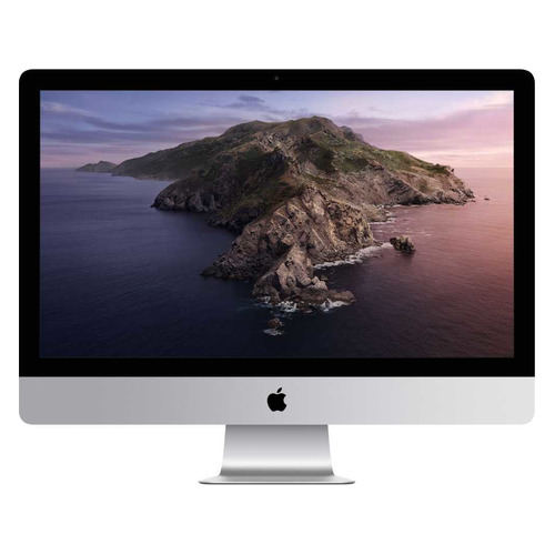 Фото - Моноблок APPLE iMac Z0ZV0007V, 27, Intel Core i5 10500, 8ГБ, 256ГБ SSD, AMD Radeon Pro 5300 - 4096 Мб, macOS, серебристый ноутбук apple macbook pro 16 ips intel core i9 9980hk 2 4ггц 64гб 1000гб ssd radeon pro 5500m 8192 мб macos z0xz005lz серый