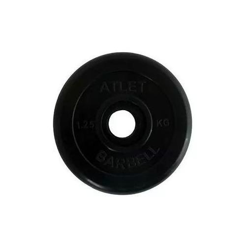 Диск Mb Barbell ATLET для гантели обрезин. 1.25кг черный (28260624)
