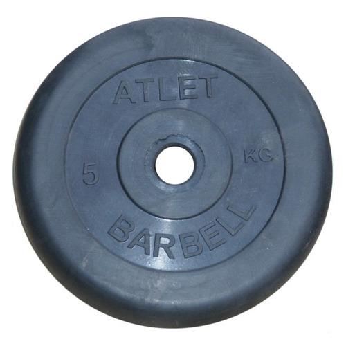 Диск Mb Barbell Atlet для гантели обрезин. 5кг черный (28260626)