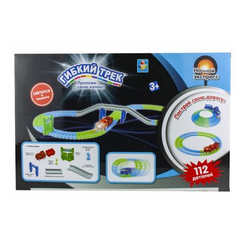 Фото - Игровой набор 1TOY Гибкий трек Ночной Экспресс [т13191] трек 1 toy ночной экспресс т13193
