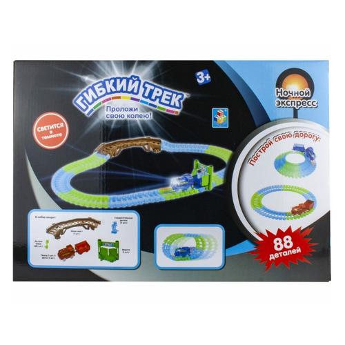 Фото - Игровой набор 1TOY Гибкий трек Ночной Экспресс [т13192] трек 1 toy ночной экспресс т13193