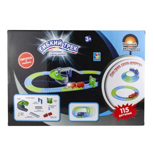 Фото - Игровой набор 1TOY Гибкий трек Ночной Экспресс [т13194] трек 1 toy ночной экспресс т13193