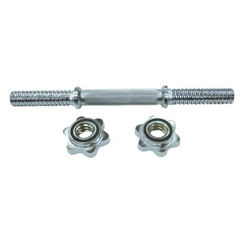 Гриф гантельный SPORT ELITE R0234, прямой, замки в комплекте, серебристый [1119907680] недорого