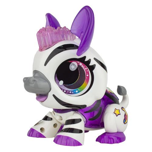 Интерактивная игрушка 1Toy Робо Лайф Зебра [т16235]