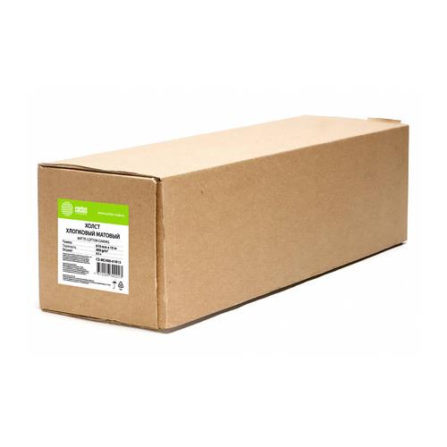 Холст Cactus CS-MC400-61015 24(A1) 610мм-15.2м/400г/м2/белый хлопок для струйной печати втулка:50.8