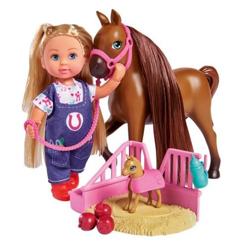 Игровой набор Simba Кукла Еви с беременной лошадкой, 12см [5733487]
