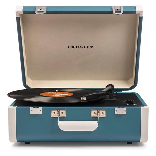 Проигрыватель винила Crosley Portfolio Portable частично автоматический синий