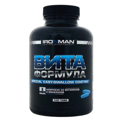 Витаминно-минеральный комплекс IRONMAN Вита формула, таблетки, 100шт
