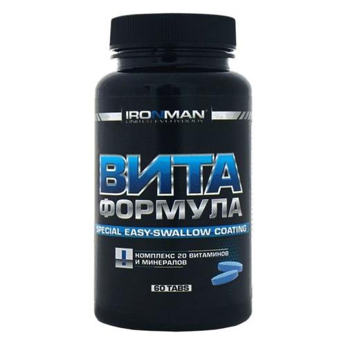 Витаминно-минеральный комплекс IRONMAN Вита формула, таблетки, 60шт