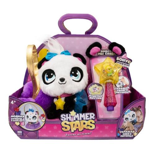 Мягкая игрушка Shimmer Stars Плюшевая Панда с сумочкой (S19352) белый/черный 20см (4+)