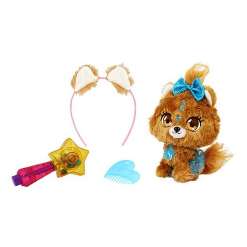 Мягкая игрушка Shimmer Stars Плюшевая собачка (S19302) коричневый/голубой 20см (4+)