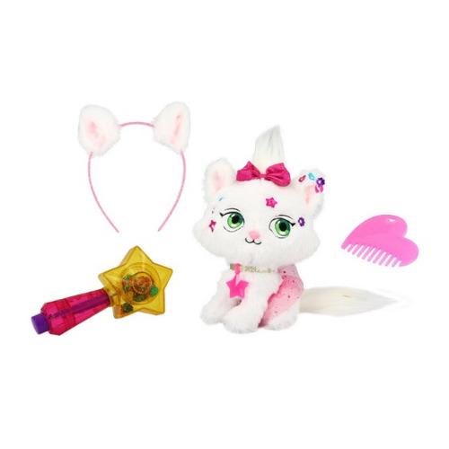 Мягкая игрушка Shimmer Stars Плюшевый котенок (S19303) белый/розовый 20см (4+)