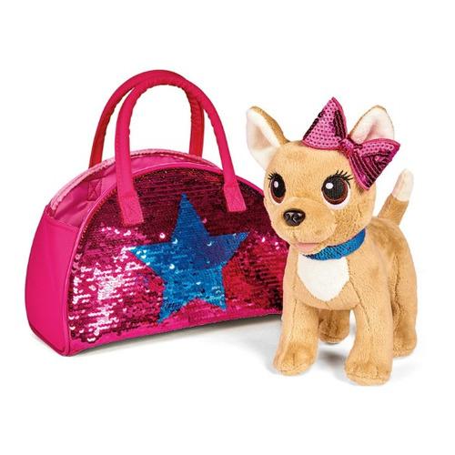 Мягкая игрушка Simba Chi-Chi love Плюшевая собачка Блестящая мода (5893351) кремовый 20см (5+)