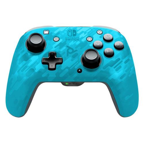Беспроводной контроллер NINTENDO Faceoff, для Nintendo Switch, синий камуфляж [nt067496]