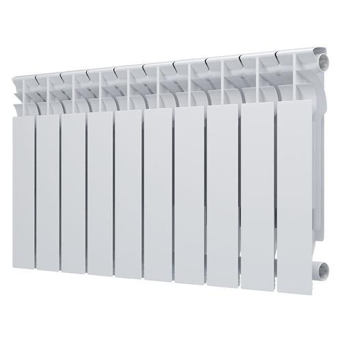 Радиатор OASIS 500/80/10, 10 секций, алюминий биметаллический радиатор rifar рифар b 500 нп 10 сек лев кол во секций 10 мощность вт 2040 подключение левое