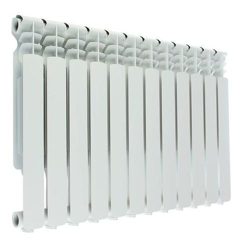 Радиатор OASIS 500/80/12, 12 секций, алюминий биметаллический радиатор rifar рифар b 500 нп 10 сек лев кол во секций 10 мощность вт 2040 подключение левое