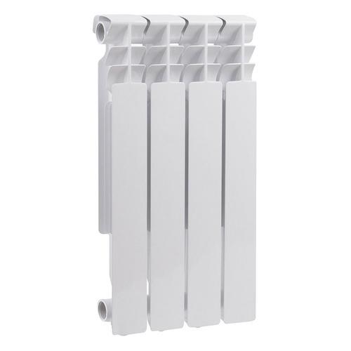 Радиатор OASIS 500/80/4, 4 секций, алюминий биметаллический радиатор rifar рифар b 500 нп 10 сек лев кол во секций 10 мощность вт 2040 подключение левое