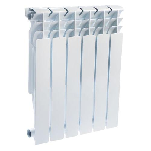 Радиатор OASIS 500/96/6, 6 секций, алюминий биметаллический радиатор rifar рифар b 500 нп 10 сек лев кол во секций 10 мощность вт 2040 подключение левое