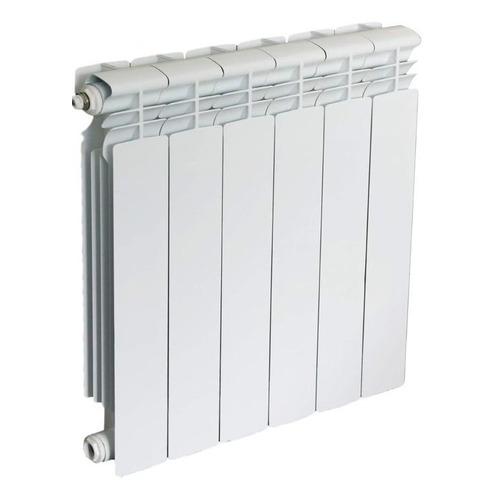 Радиатор OASIS 350/80/6, 6 секций, биметаллический биметаллический радиатор rifar рифар b 500 нп 10 сек лев кол во секций 10 мощность вт 2040 подключение левое